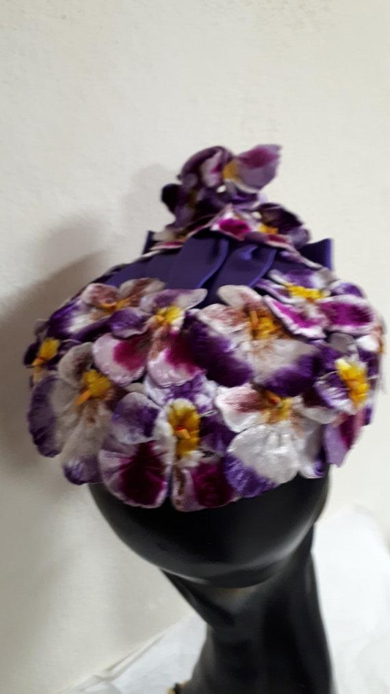 ELSA SCHIAPARELLI vintage hat, haute couture, Par… - image 4