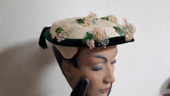 ELSA SCHIAPARELLI vintage summer hat, fifties, st… - image 9
