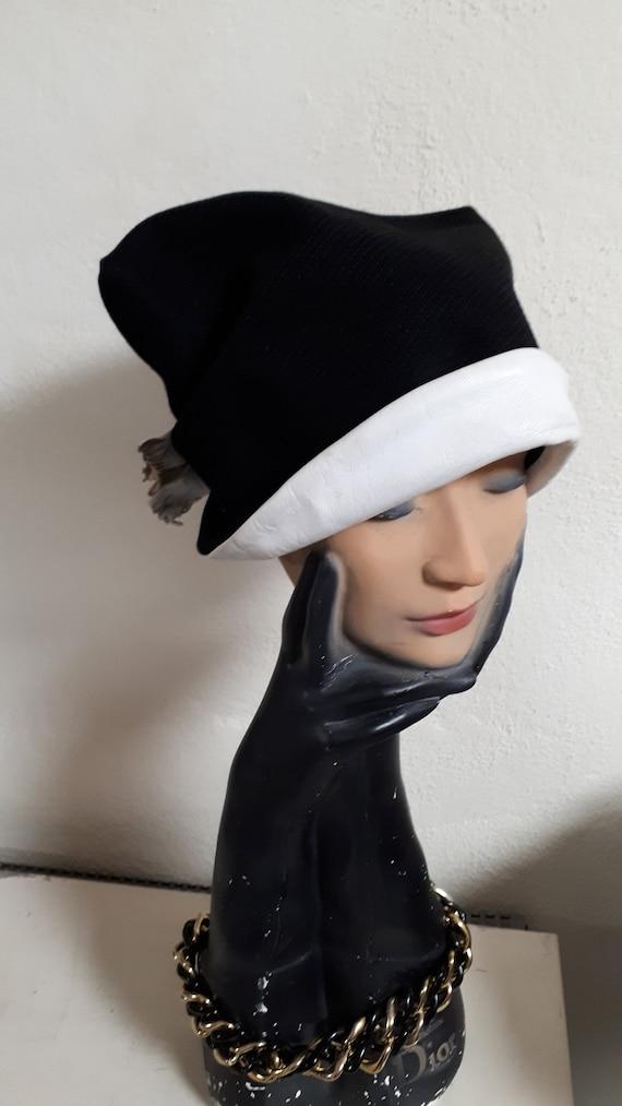 ELSA SCHIAPARELLI vintage hat, fifties, rare, bla… - image 2