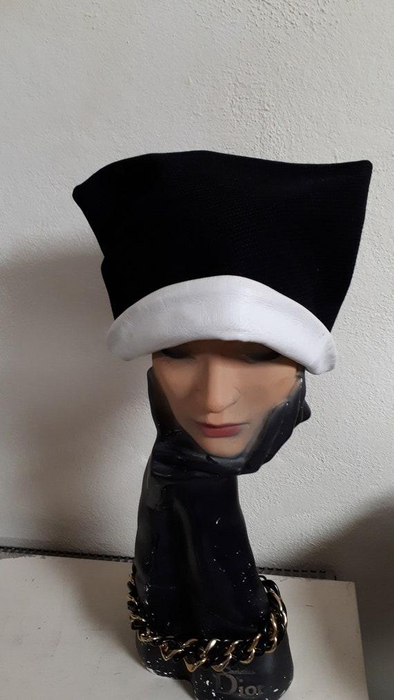 ELSA SCHIAPARELLI vintage hat, fifties, rare, bla… - image 6