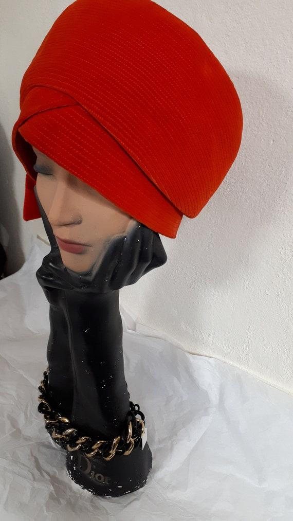 ELSA SCHIAPARELLI, haute couture hat, RED velvet,… - image 2