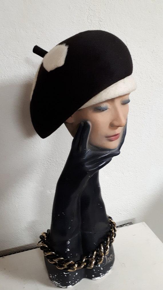 ELSA SCHIAPARELLI vintage hat, fifties, hare felt… - image 4