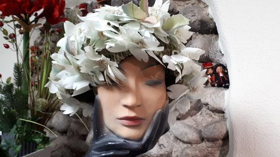 ELSA SCHIAPARELLI vintage hat, haute couture, fift