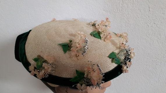 ELSA SCHIAPARELLI vintage summer hat, fifties, str