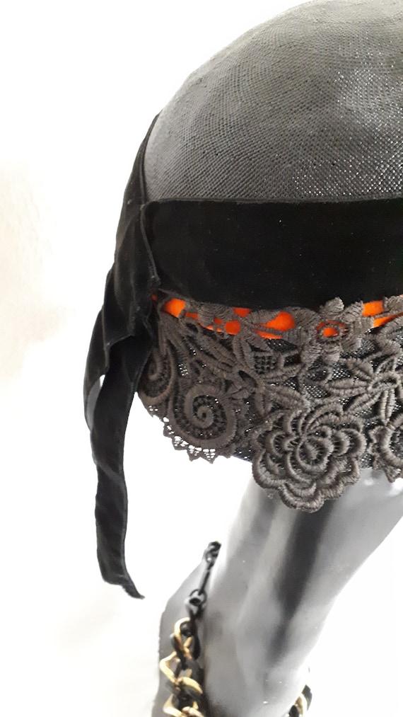 Elsa Schiaparelli couture hat, vintage cloche, si… - image 7