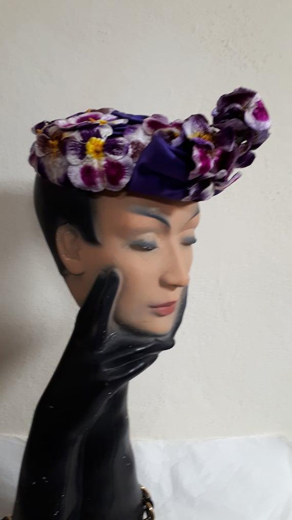 ELSA SCHIAPARELLI vintage hat, haute couture, Par… - image 2