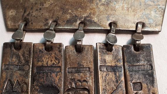 ARTISAN necklace, hieroglyphics, solid brass, UNI… - image 7