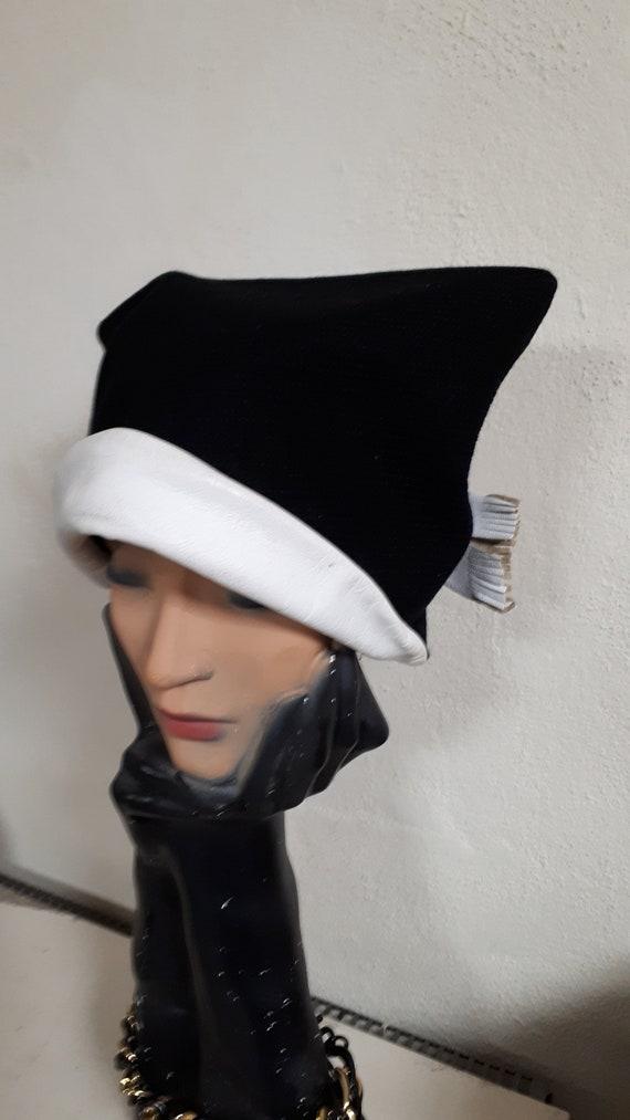 ELSA SCHIAPARELLI vintage hat, fifties, rare, bla… - image 7
