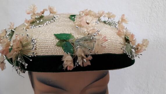 ELSA SCHIAPARELLI vintage summer hat, fifties, st… - image 8