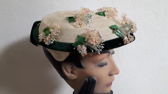 ELSA SCHIAPARELLI vintage summer hat, fifties, st… - image 3