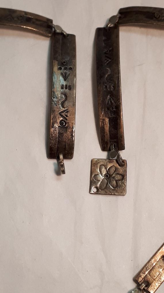 ARTISAN necklace, hieroglyphics, solid brass, UNI… - image 6
