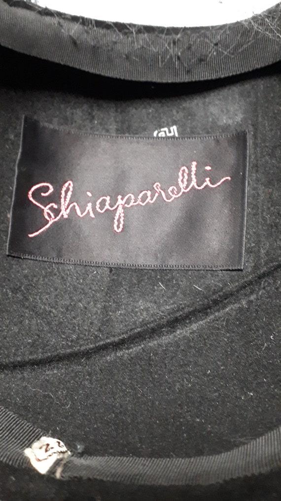 ELSA SCHIAPARELLI vintage cocktail hat, black sil… - image 8