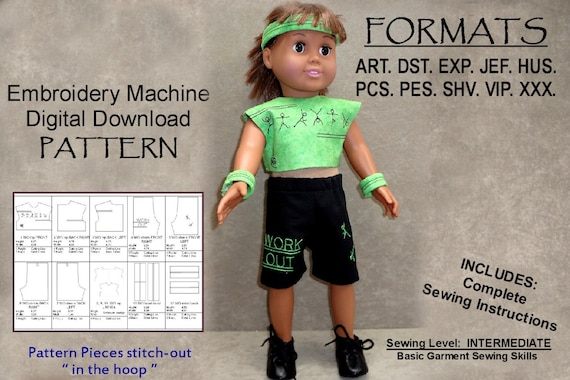 40Inch Doll Pattern Machine Embroidery DIGITAL DOWNLOAD Etsy Interesting 18 Doll Sewing Machine