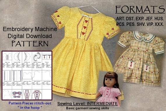 18-Zoll-Puppe Kleid Muster Stickerei-Maschine digitaler | Etsy