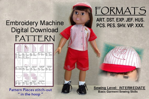40Inch Doll Pattern Machine Embroidery DIGITAL DOWNLOAD Etsy Gorgeous 18 Doll Sewing Machine