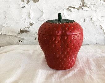 vintage ceramic strawberry