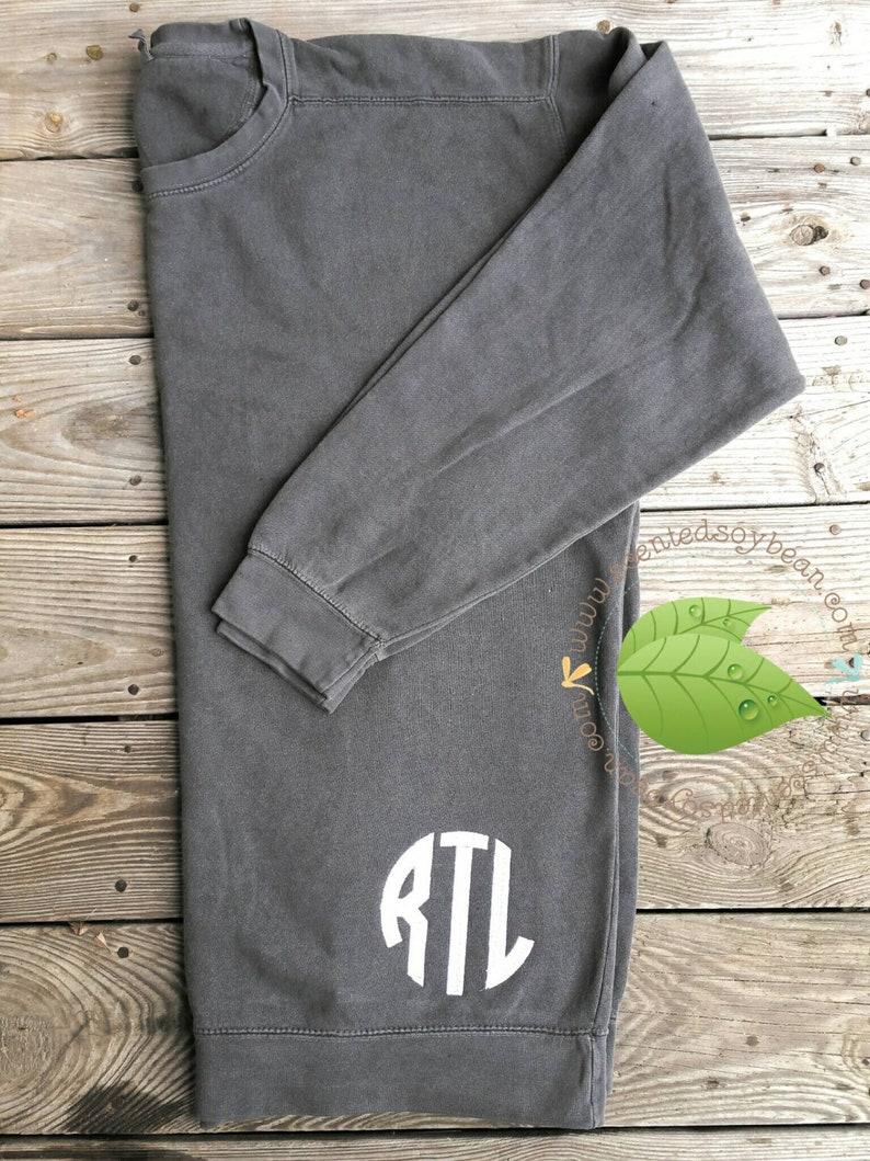 5a7a491a8 Personalized Comfort Color Sweatshirt Monogrammed Sweatshirt | Etsy