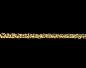 "10 YARDS of Wonderful 3//8/"" Dark Gold Gimp Trim  Lampshades Borders Pillows"