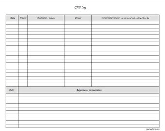 fillable chf log pdf digital health forms printable instant download