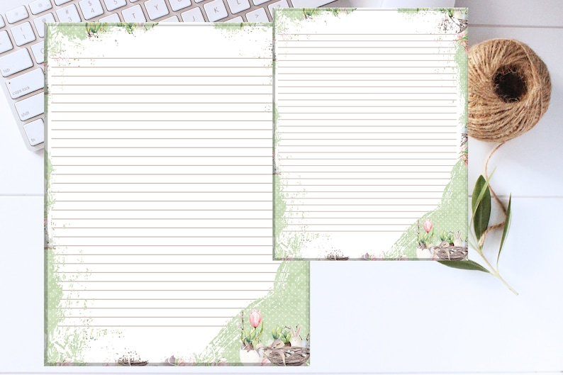 image relating to Printable Stationary With Lines identified as Printable Stationary Paper / Spring Happiness / Protected Stationary Paper /Printable Stationary / A4 8.5 x 11 / PDF
