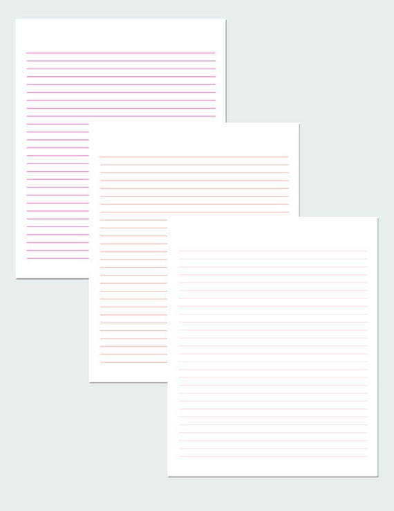 graphic regarding Lined Paper Printable Pdf referred to as Crimson And Orange Coated Paper / Electronic Paper / Printable Paper / PDF
