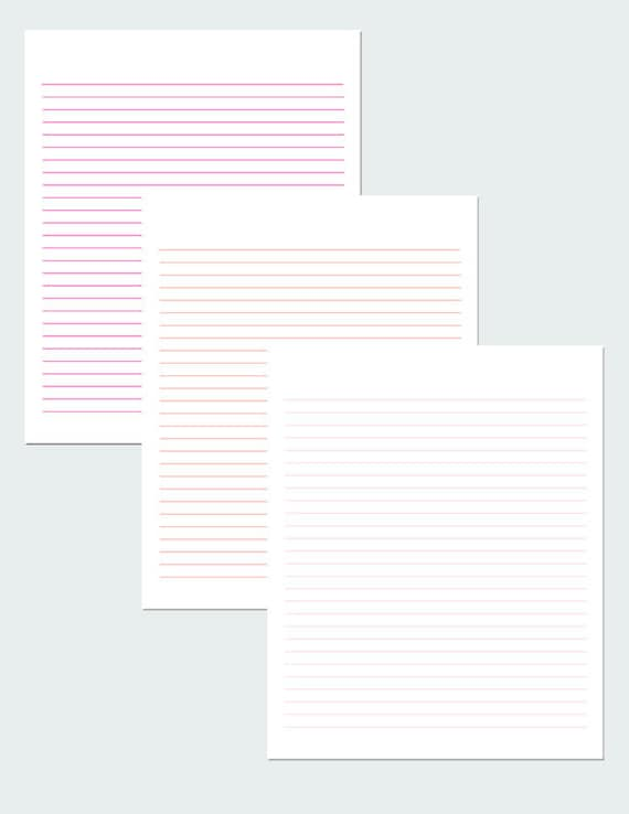 graphic regarding Lined Printable Paper identified as Red And Orange Included Paper / Electronic Paper / Printable Paper / PDF