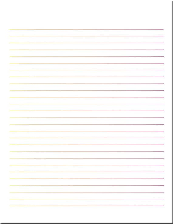 image about Lined Printable Paper named Multicolor Coated Paper / Coated Stationery / Composing Paper / Electronic Covered Paper / Printable Paper / PDF
