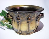 BRONZE APOTHECARY MORTAR Chinese Dragon Censer Altar Bowl Incense Burner