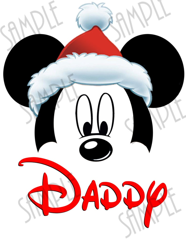 9120fe877b28f T-shirt Disney Minnie Mouse Merry Christmas Printable iron on