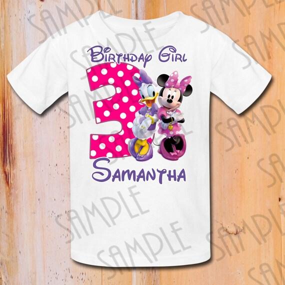 Disney Minnie Mouse Daisy Duck Iron On Transfer Birthday Girl  de9f40749dda7