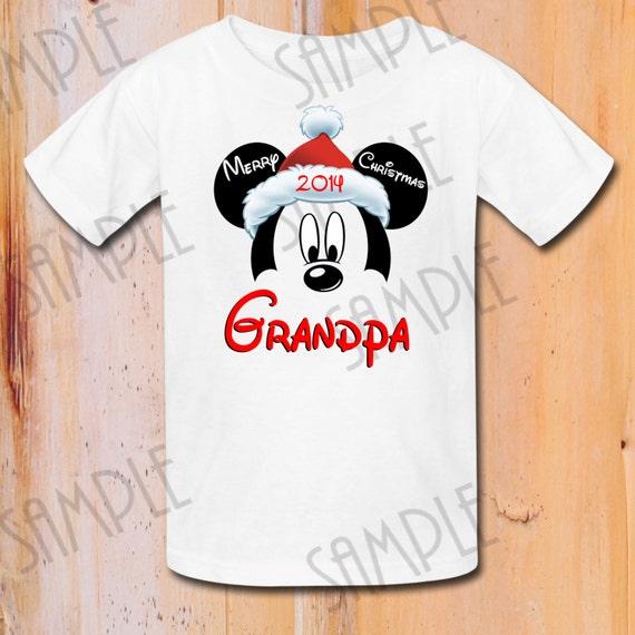 Camiseta Disney Mickey Mouse feliz Navidad imprimible plancha | Etsy