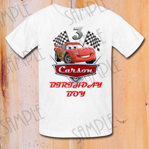 T-shirt Disney Cars DIY Custom Iron On Transfer Printable