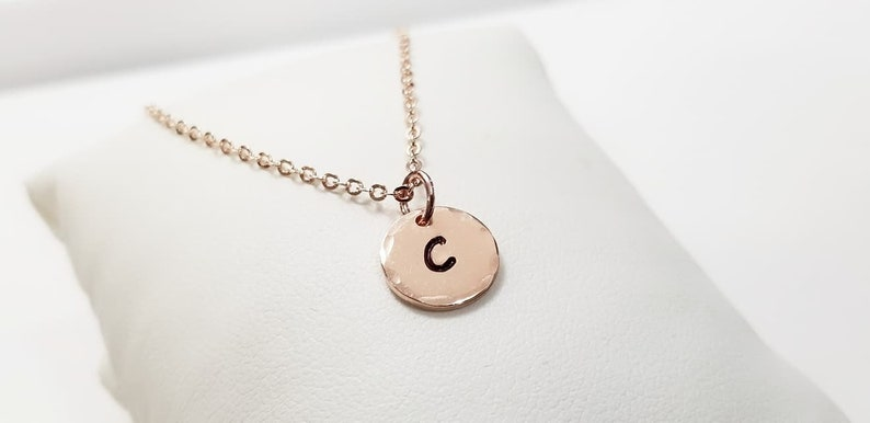 Wedding Gift Best Friend Necklace Bridesmaid Necklace Gold Initial Disc Necklace