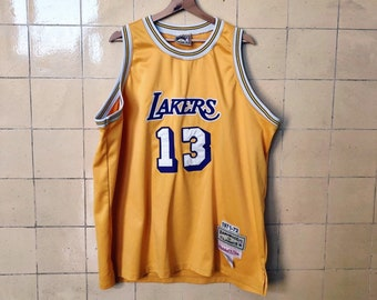 643d73c6 Vintage LAKERS 1971-72 Los Angeles Wilt Chamberlain 13 Retro Authentic  Mitchell and Ness jersey Hardwood Classic