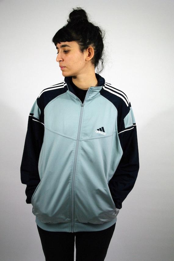Vintage 90s 00s ADIDAS Sport Survêtement Sweat Suit Old School Windbreaker Tracksuit Jacket Trainer Fluo Grey Zip Men mens Women M L
