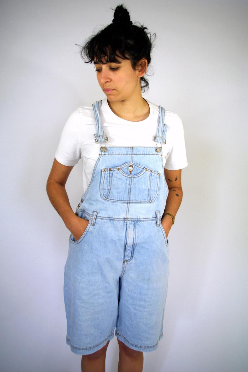 25944a2e76 Vintage 90s Jeans Denim Jumpsuit Overalls Dungarees Romper