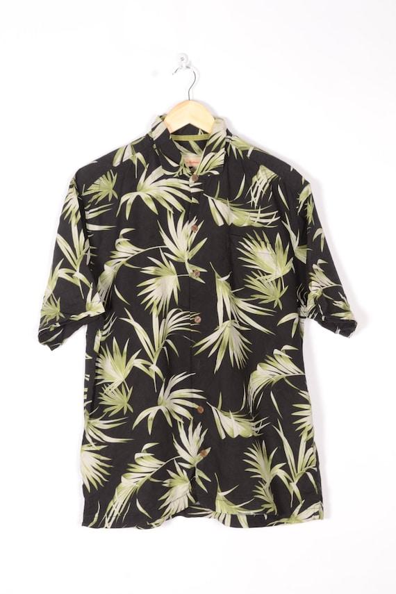 Tropical Summer shirt Vintage 80s 90s Blouse Beach