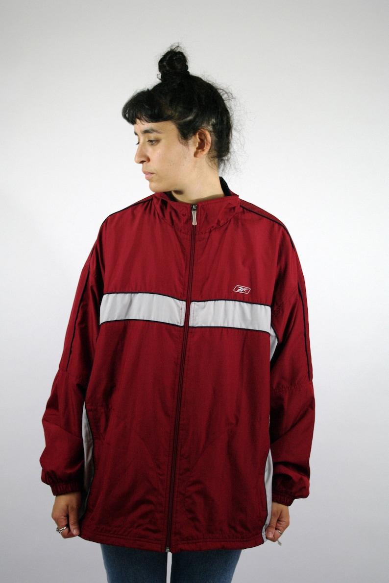 b2366ac728 Vintage 90/00s REEBOK Shell jacket Sport Windbreaker Track Tracksuit Sweat  Suit Old School Jacket Trainer Red Zip Men mens Women L XL