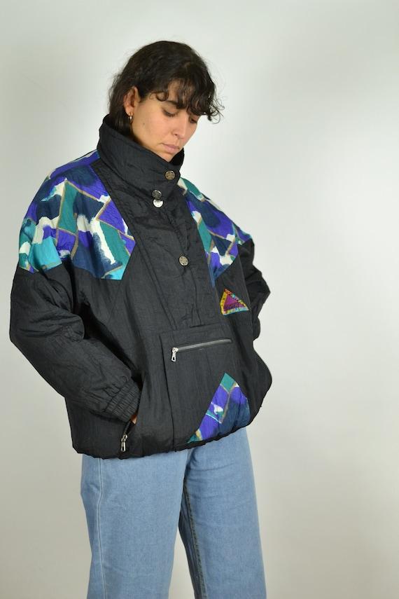 Pink Anorak Windbreaker Jacket Colorblock Half Zip Multi Color XS//Small NWT