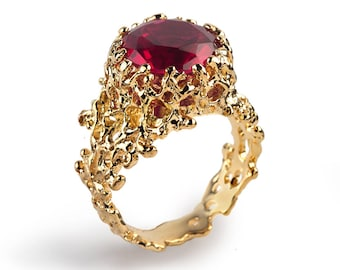 CORAL Gold Gems Rings