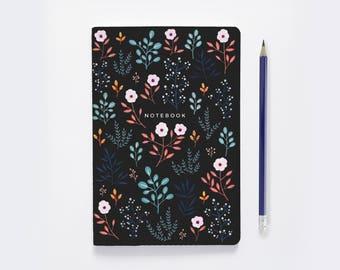 Dot Grid Notebook |  Bullet Journal - Jupiter Flowers  |  Floral Notebook  |  cute writing journal