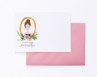 Personalized Stationery Custom Notecards - Set of Ten