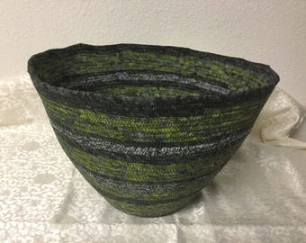 Fabric coiled bowl