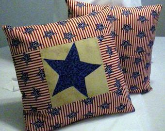 Star appliqued pillow