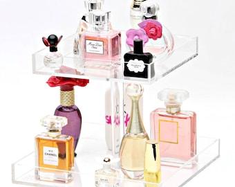 Bella Petite 2 Tier Perfume Organizer, Acrylic Makeup Organizer, Perfume Tray, Perfume Holder, Make up Organizer, Makeup Organizer