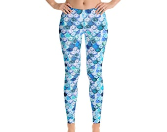 0888982934 Mermaid Leggings, Mermaid Scales Leggings, Graphic Leggings, Mermaid Yoga  Pants, Yoga Leggings, Yoga Pants, Spring, Leggings, Workout Pants