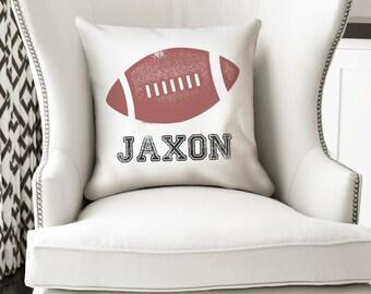 Football Pillow Etsy