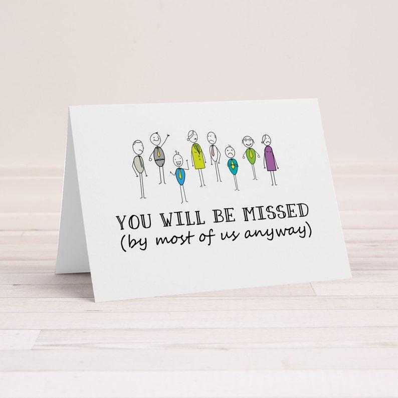 funny goodbye card rude farewell card funny greeting card