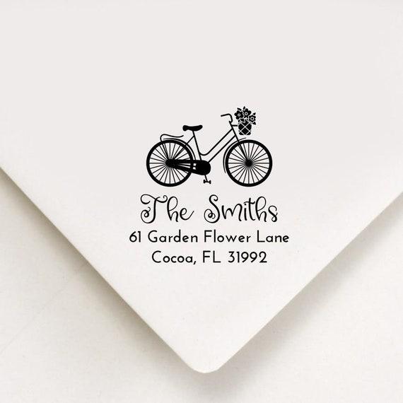 Cute Custom Address Stamp With Bunny Return address stamp Birthday Gift,Housewarimg Gift Cute Customizable Easter Gift Self Inking Stamp