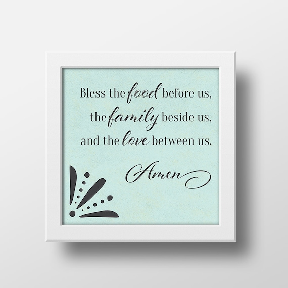 photograph relating to Bless the Food Before Us Printable identified as Bless the Food stuff Prior to Us, Supper Blessing, Kitchen area Artwork